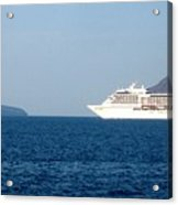 Cruise Ship Departing 2 Acrylic Print