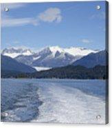Cruise Ship Mountains Acrylic Print