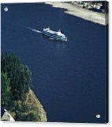 Cruise Ship On The Rhine Acrylic Print