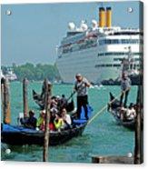 Cruise Ship Port Of Venice Acrylic Print