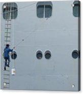 Cruise Ship Window Washer Acrylic Print