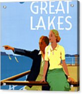 Cruise The Great Lakes Vintage Travel Poster Acrylic Print