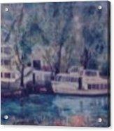 Cruiseboat On Rhine River Germany Acrylic Print