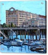 Cruiseport Boston Acrylic Print