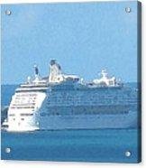 Cruiseship At Dockyard Bermuda Acrylic Print