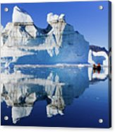 Cruising Between The Icebergs, Greenland Acrylic Print