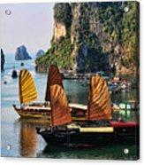 Cruising Ha Long Bay  Vietnam Acrylic Print