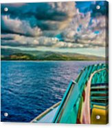 Cruising Hispaniola Acrylic Print