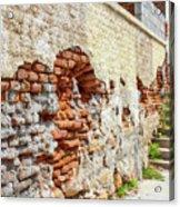 Crumbling Wall Acrylic Print