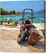 Crushed Tractor By The Sea On Island Prvic Acrylic Print