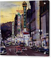 Crusin' Broadway In The Fifties Acrylic Print by Mike Hill