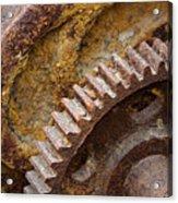 Crusty Rusty Gears Acrylic Print