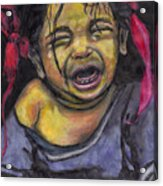 Cry Baby Cry Acrylic Print
