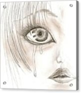 Crying Eye Acrylic Print