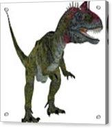 Cryolophosaurus On White Acrylic Print