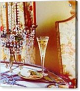 Crystal And Champagne Acrylic Print