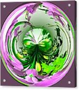 Crystal Ball Flower Garden Acrylic Print