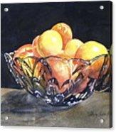 Crystal Bowl With Fruit Acrylic Print