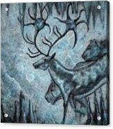 Crystal Cavern Procession Acrylic Print