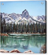 Crystal Crag From Twin Lakes Mammoth Ca Acrylic Print
