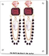 Crystal Earrings For Women Acrylic Print