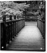 Crystal Garden Bridge Acrylic Print