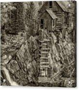 Crystal Mill Marble Colorado Sepia Dsc06944 Acrylic Print
