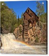 Crystal Mill Rainbow Portrait Acrylic Print