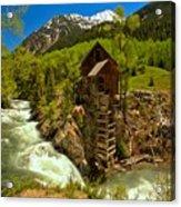 Crystal Mill Summer Landscape Acrylic Print