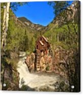Crystal Mill Through The Trees Acrylic Print
