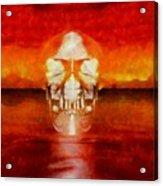 Crystal Skull Acrylic Print