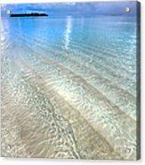 Crystal Water Of The Ocean Acrylic Print by Jenny Rainbow