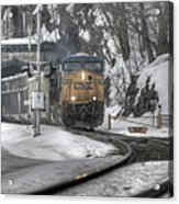 Csx Northbound At Mine Dock Road Highland Falls New York Acrylic Print