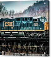 Cs X  Ge Engine 3046 On Trestle Acrylic Print