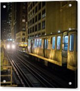 Cta Meet At The State-lake Street Station Chicago Illinois Acrylic Print
