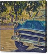 Cuba Car Acrylic Print