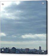 Cuba City And Skyline Art Acrylic Print