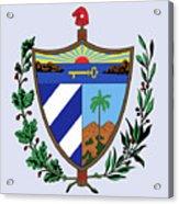 Cuba Coat Of Arms Acrylic Print