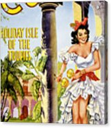 Cuba Holiday Isle Of The Tropics Vintage Poster Acrylic Print