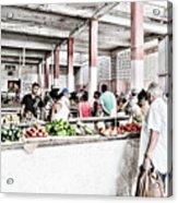 Cuba Market Acrylic Print