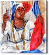 Cuban Character Acrylic Print by Dawn Currie