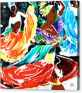 Cuban Dancers - Magical Rhythms... Acrylic Print