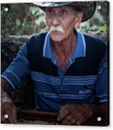 Cuban Domino Player, Manaca Iznaga, Cuba Acrylic Print