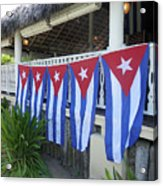 Cuban Flags Acrylic Print