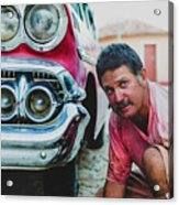 Cuban Mechanic Acrylic Print