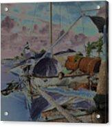 Cuban Refugee Raft  3 Acrylic Print