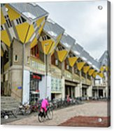 Cube Houses In Rotterdam Acrylic Print