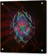 Cube With Thunders 01 Acrylic Print