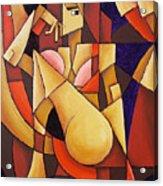 Cube Woman Acrylic Print