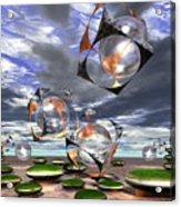 Cubes Capture Spheres In Another World Acrylic Print